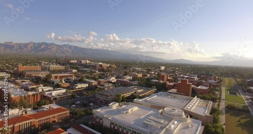 Sticker Drone footage of buildings in Tucson Arizona
