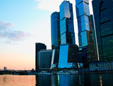 Moscow city skyscrapers architecture backdrop - 209765800