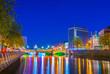 Night view of the riverside of Liffey in Dublin, Ireland - 209773812