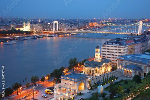 Sticker Cityscape image of Budapest, capital city of Hungary, Europe
