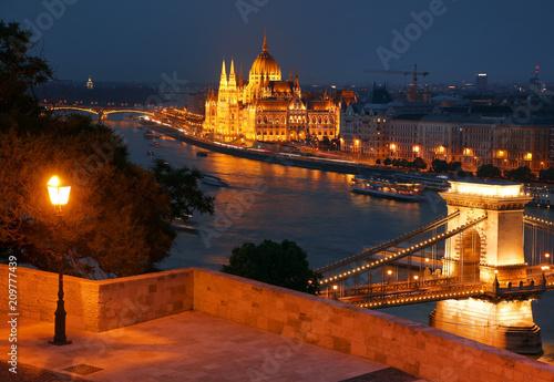 Aluminium Boedapest Cityscape image of Budapest, capital city of Hungary, Europe