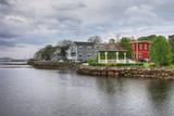 Colorful buildings of Mahone Bay, Nova Scotia - 209779858