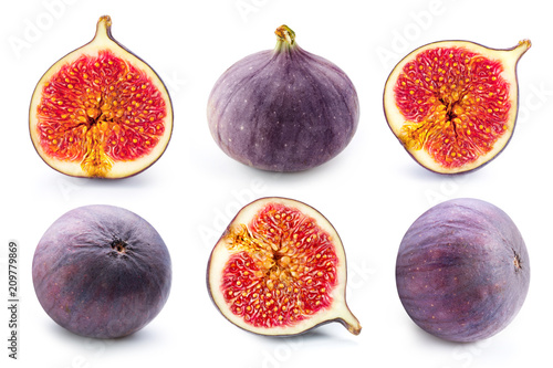 Foto Murales Figs fruits on white