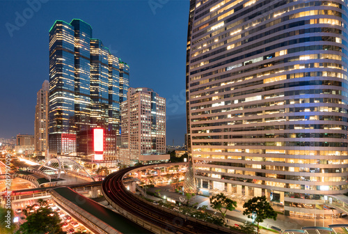Bangkok business district abstract photography. - 209797059