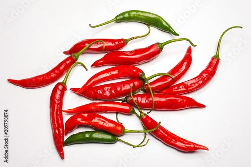 Fotobehang Hot chili peppers pimenta malagueta