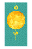 Chinese new year and Mid autumn festival with polygonal lantern - 209808047