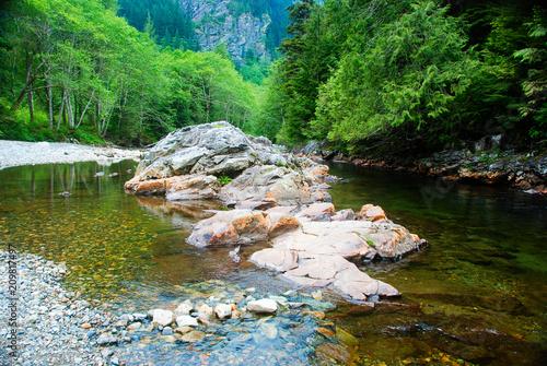 Foto Murales Snoqualmie River Rocks