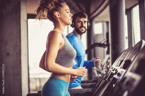 Jogging na maszynie.
