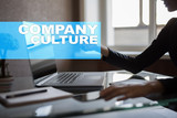 Company culture text on virtual screen. Business, technology and internet concept. - 209828448