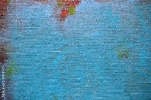 Fototapeta samoprzylepna Abstract painted linen canvas colorful background