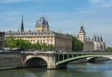 Notre-Dame bridge over Seine river, Paris, France