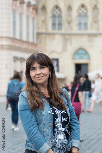 Foto Murales Girl in Praga