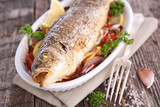 grilled fish and vegetable - 209847838