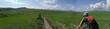 panoramica in mountain bike