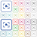 Camera white balance shade mode outlined flat color icons - 209851245