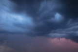 Thunderclouds in the sky as a background
