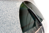 Dirty rear glass of the car. - 209858657