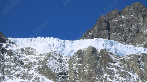 Foto Murales Landscape of mountain snow and winter
