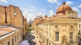 Fototapeta Miasto - Bucharest Old Town Sunny Summer Day - Romania © tichr