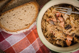 Bigos - stewed cabbage with meat,dried mushrooms and smoked sausage. - 209881850