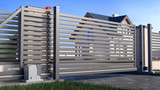 Automatic Sliding Gate and house - 209882045
