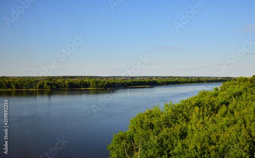 Foto Murales Oka River In the Kolomna district , Russia