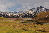 Silvretta alpine road and water dam system - 209895676