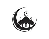 Mosque silhouette logos