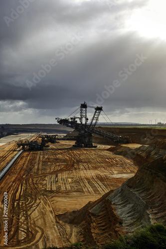Foto Murales Mining lignite coal Germany