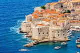 view on Old Town Dubrovnik in Dalmatia, Croatia 
