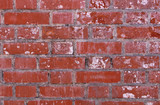 Old broken brick wall close-up background - 209911849