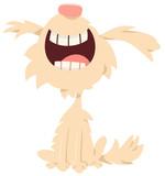 happy shaggy dog cartoon character