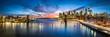 New York City Skyline Panorama mit Brooklyn Bridge und Blick Blick auf Manhattan - 209921297