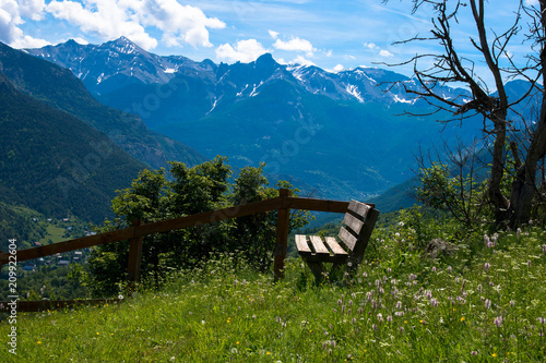 Foto Murales Französischen Alpen bei Valllouis und Puy Saint Vincent
