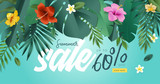 Summer sale. Vector illustration concept for mobile and web banner, poster, online shopping ads, social media and networking, marketing material. - 209922871