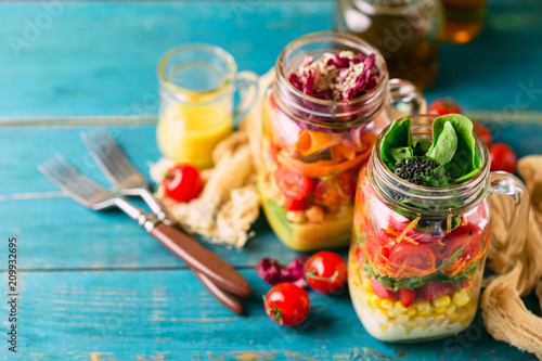 Healthy Homemade Jar Salad - 209932695