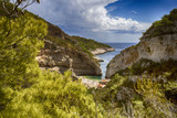 Famous Stiniva cove on Vis island, Croatia - 209937010