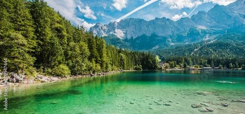 Sceniczny Bawarski Jeziorny Eibsee