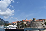 A view of the medieval walled town of Korcula on Korcula Island, Croatia, June, 2018 - 209951610