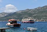 Boats in the harbour, Korcula town, Korcula island, Croatia, June, 2018 - 209951651