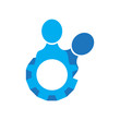 Isolated business teamwork icon