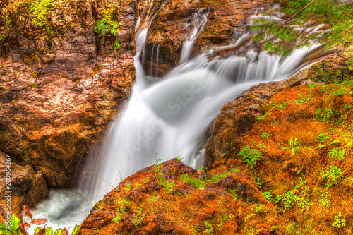 Little Qualicum Falls on Vancouver Island, Canada - 209964267
