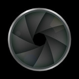 The shutter of the camera. Photographic diaphragm. Vector illustration. - 209968292