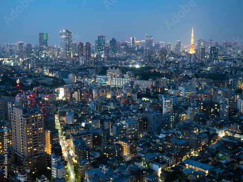Nocny widok Tokio