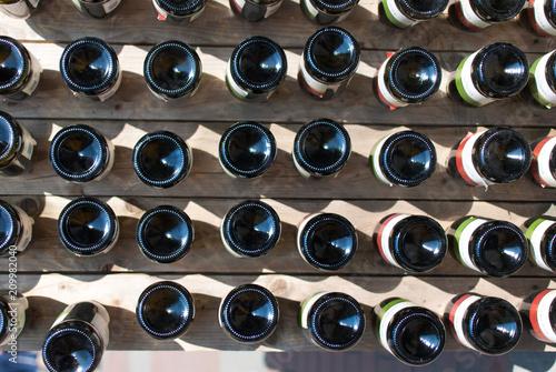 Wine bottles in a wine cellar © Bohdan Melnyk
