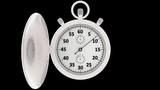 Animazione illustrazione 3D. Cronometro. Cronografo, al via, misura un minuto.. - 209984851