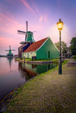 Traditional windmills over at the Zaanse Schans - 209991448