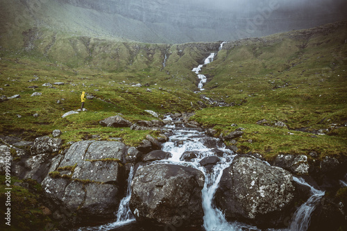 waterfall in faroe - 209992420