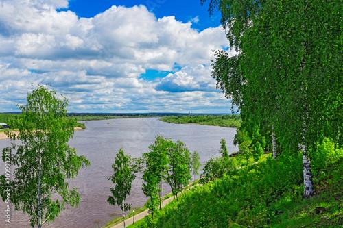 Foto Murales vyatka river view