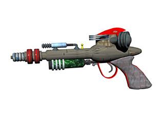 Laserpistole als Strahlenwaffe